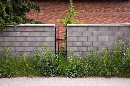 外国 海外 チェコ ヨーロッパ 東欧 中欧 綺麗 外国風景 風景 素材 ナチュラル 庭 ガーデン 植木 植物 屋外 背景 テクスチャ バックグラウンド 葉っぱ 芝 つた 蔦 アイビー 緑 自然 植物 レンガ 通用口 鉄