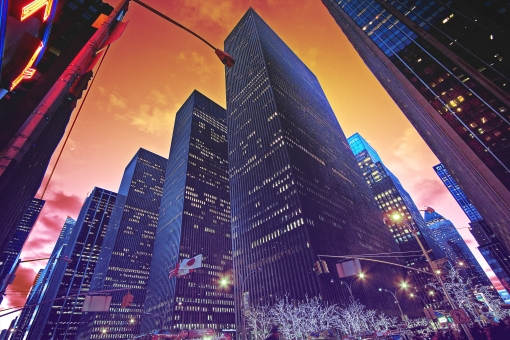 アメリカの街角の写真