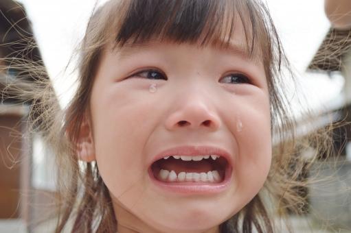 子供 泣き顔 子ども こども 女の子 泣く 涙 悲しい 転ぶ 大泣き 2歳 mdfk023