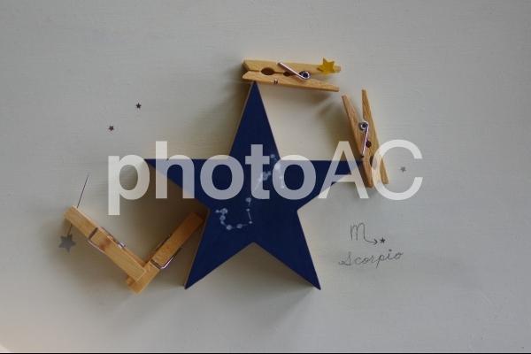 蠍座のスターチャートの写真