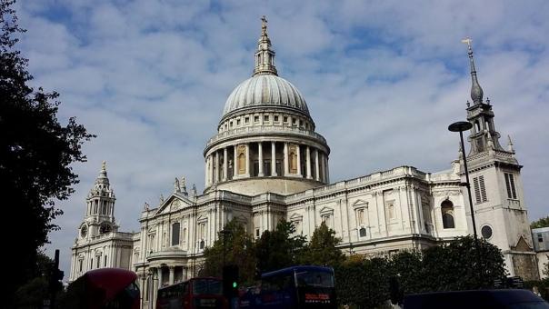 ロンドン イギリス London UK St.Paul's セントポール 建物 風景 背景