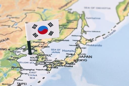 韓国国旗の写真