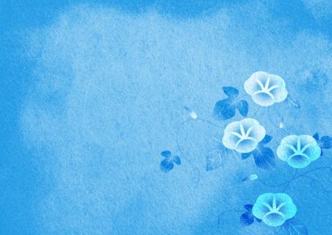 テクスチャ テクスチャー 背景 背景素材 あさがお 朝顔 バックグラウンド 夏休み 夏 花 青 ブルー BLUE 植物 涼しい 涼しげ 爽やかな 和紙 和柄 暑中見舞い サマー SUMMER 自然 自然素材 素材 和 和風 花びら フラワー 風物詩