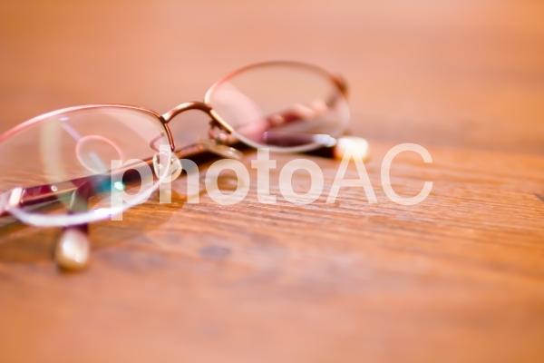 赤い眼鏡の写真