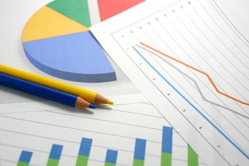 ビジネス グラフ 仕事 書類 資料 図 小物 鉛筆 数字 学校 勉強 学習 会社 企画 会議 用紙 紙