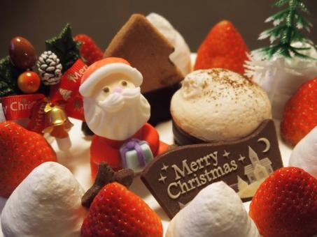 クリスマスケーキ クリスマス ケーキ サンタクロース 生クリーム イベント 12月 冬 サンタ チョコレート 食べ物 いちご ストロベリー イチゴ クリスマスイメージ