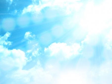 雲 空と雲 青空 大空 ブルースカイ sky 晴天 快晴 大陽 大陽の光 反射 放射 フラッシュ 合成 晴天背景 快晴背景 テクスチャ web背景 web素材 お日様 入道雲 春 自然 チラシ背景 夏の空 眩しい 日光浴 バックグラウンド 光りの背景 水晶 水晶背景 水玉 光沢 海 水 空 ボール さわやかな背景 爽やかな背景 夏 夏の背景 ぼかし背景 ピカピカ キラキラ 輝き 後光 後光背景 baburu gradation グラデーション 壁面 壁画 壁紙 イベント イベント素材 光