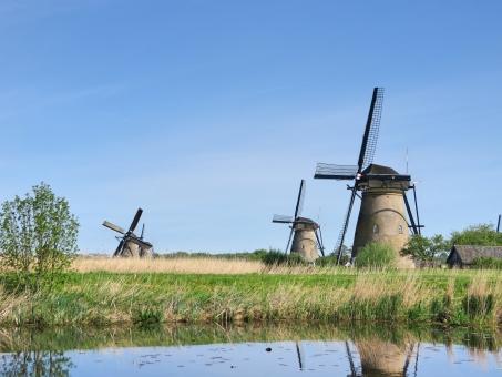 オランダの風車2の写真