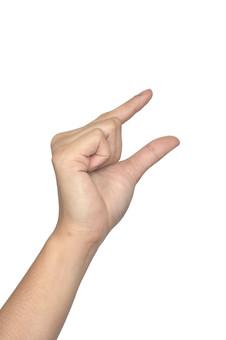 人物 背景 白 白背景 白バック 切り抜き パーツ ボディパーツ 腕 片手 ポイント 指 手首 ジェスチャー 身ぶり 肌 余白  シンプル ハンドパーツ 右手 摘む 掴む 手ぶり 人の手 少し ちょっと