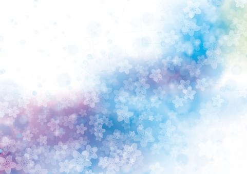 春 桜 花 夢 4月 テクスチャ 背景 素材 きらめき きらきら キラキラ 輝き 入学 卒業 お祝い さくら 立春 バレンタイン 雛まつり ホワイトデー 入園 卒園 合格 母の日 ファンタジー バック 紫 緑 青 空