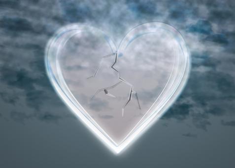 ガラス ハート 傷心 ハートブレイク heartbrake 悲しい 悲しみ 別れ 嘆き 心痛 悲哀 傷つく 繊細 もろい 脆い デリケート 不安定 情緒不安定 不安 壊れやすい 壊れる メンタル 弱い 打たれ弱い ナイーブ やわ 弱々しい はかない 儚い 軟弱