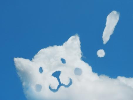 空 雲 イヌ いぬ 犬 ワンコ わんこ 動物 ペット 家族 友達 絆 愛犬 ビックリ ビックリマーク びっくり びっくりマーク 驚き 驚愕 発見 ポイント 重要 理解 了解 ひらめき 注目 感嘆 感嘆符 答え 快晴