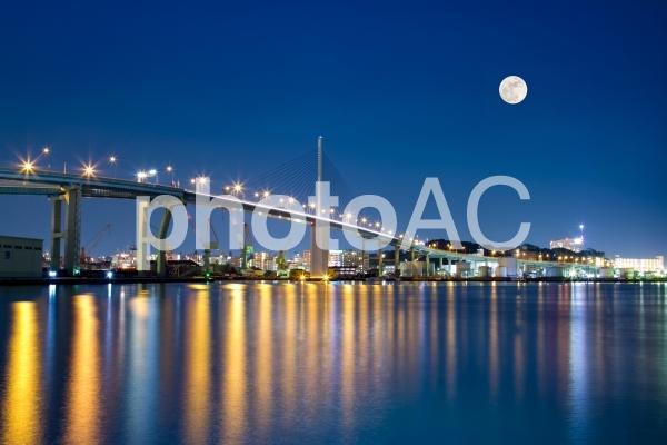 埠頭からの夜景/博多(那の津埠頭)の写真