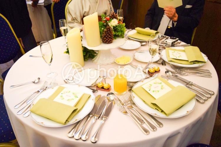 結婚式 テーブルコーディネートの写真