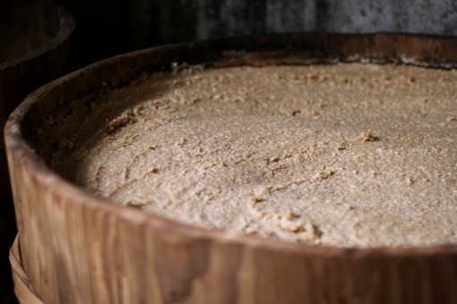 味噌 みそ ミソ 調味料 食べ物 味噌蔵 樽 桶 熟成 麹 麹菌 仕込み 発酵 こうじ 味噌作り 味噌づくり
