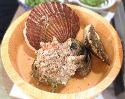 貝 貝類 魚貝 魚介 魚介料理 魚貝料理 海鮮 海鮮料理 和食 日本食 日本料理 食べ物 食品 食材 料理 調理 グルメ ほたて ホタテ 帆立 さざえ サザエ 栄螺 はまぐり 蛤 ハマグリ 白蛤 ホンビノスガイ 寿司桶 食糧