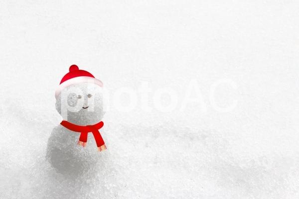 かわいい雪だるまの写真