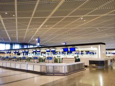 出発 ロビー 空港 飛行機 海外 旅行 成田 飛行場