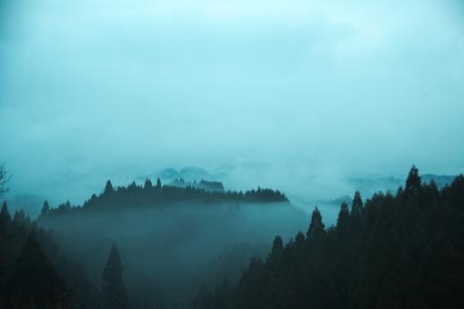 竹田市の山の写真