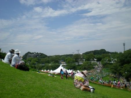 夏フェス 芝生 青空 夏 フェス 清々しい 野外フェス 野外 夏の風景 風景 景色 眺め ピクニック 緑 緑の大地 大地 音楽フェス 青い空 野外ライヴ 芝 芝と空 風物詩 夏の空 真夏 暑い夏