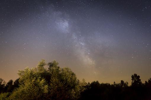 満天の星空の写真