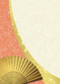 年賀状 年賀 新年 和柄 和風 日本風 日本 伝統 扇子 背景 背景素材 テクスチャー テクスチャ 壁紙 紙 チラシ パンフレット カタログ ポスター 表紙 金 金箔 赤 和菓子 お中元 お歳暮 background texture japan paper