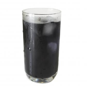 炭パウダー水(psdデータは背景が別レイヤーです)の写真