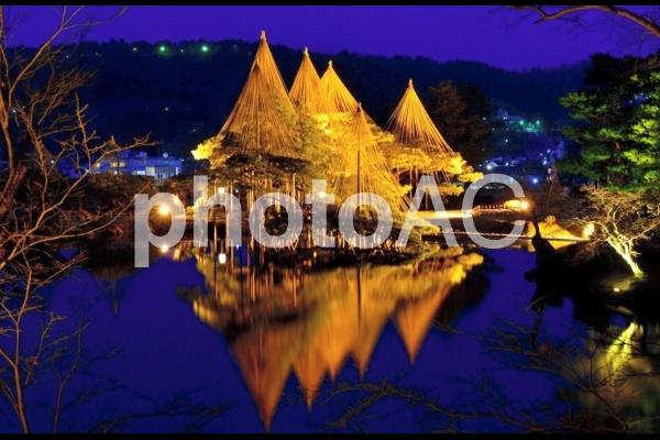 金沢 兼六園 夜景の写真