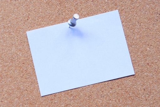 メモ メモ用紙 押しピン 画鋲 画びょう メモスペース 白 ホワイトバック 掲示板 伝言 背景