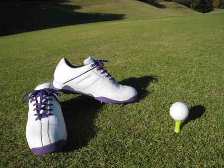 ゴルフ ゴルフシューズ レディース スパイク ゴルフボール ティー ティーアップ 芝 ゴルフ場 ゴルフコース 女性ゴルファー 靴