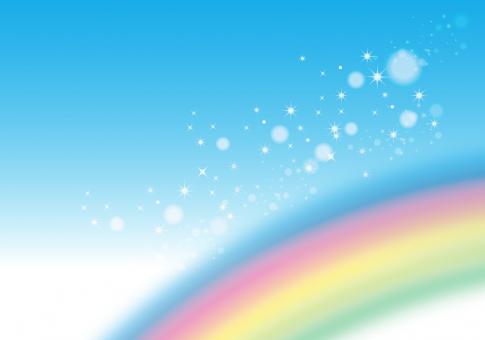 七色 レインボー 晴れ 空 カラフル 背景 素材 テクスチャ きらきら キラキラ 雨 バック メルヘン