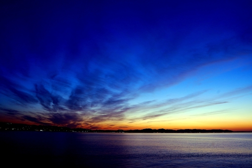 湘南の夜明けの写真