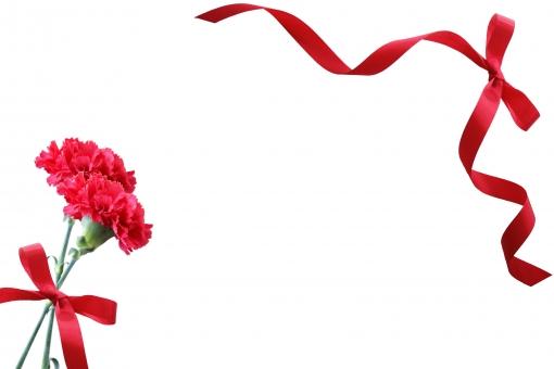 枠 フレーム テクスチャ 素材 背景 リボン 赤 母の日 メッセージカード メッセージ カード