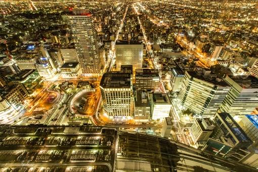 新日本三大夜景・札幌の街の写真
