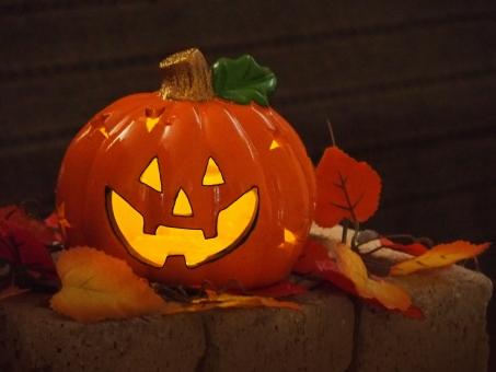 ハロウィン イベント お祭り 行事 10月 秋 かぼちゃ パーティー カボチャ オレンジ ランプ 落ち葉
