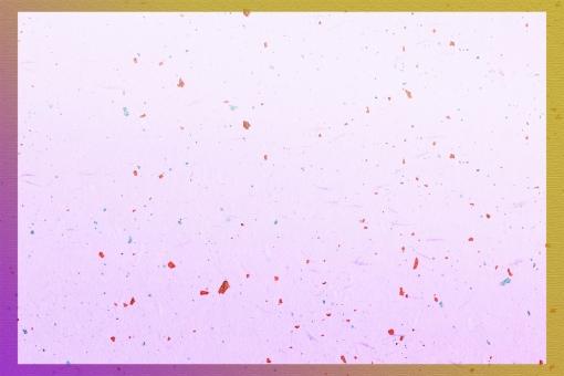 グラデーション金枠 金箔和紙psd 紫の写真