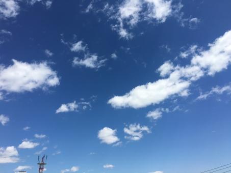 空 ブルースカイ 青 青天井 天 晴れ 雲 爽やか 爽快 春 夏