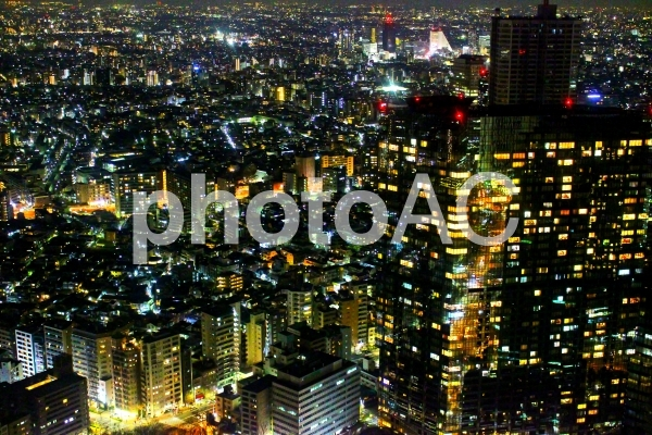 東京夜景 光の絶景4 ゴールドの写真