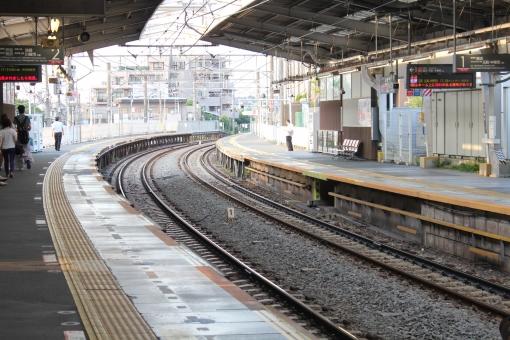 電車 通勤電車 東急線 東横線 ドア 駅 ホーム 黄色い線 妙蓮寺駅