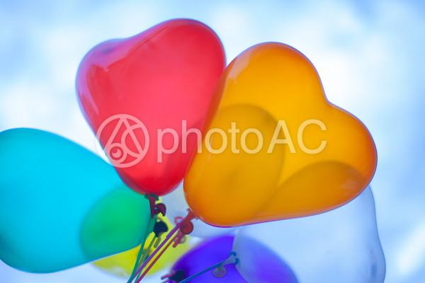 ハート型の風船の写真