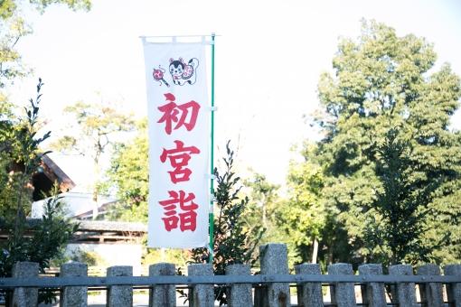 お宮参りの旗の写真