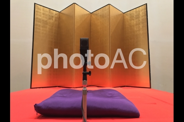 落語・寄席の舞台(高座)の写真