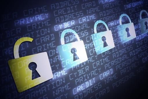 PC パソコン ノートパソコン キーボード アップ セキュリティ 安全対策 防止 漏えい 流出 プライバシー 個人情報 アクセス 不正アクセス ウイルス ネット犯罪 インターネット データ 保護 守る フィッシング ハッカー ハッキング safety パスワード サイバー攻撃 画面 文字 プログラム カギマーク 鍵マーク