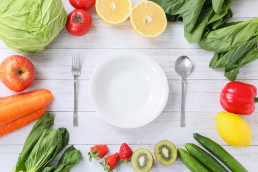 野菜を食べるの写真