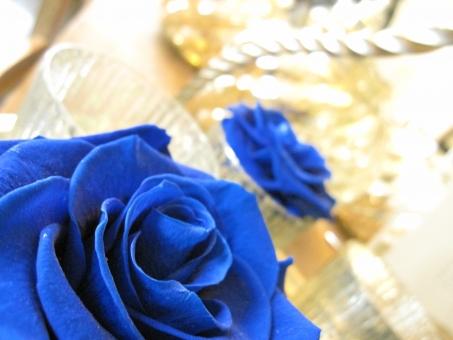 バラ 薔薇 青 青い 青い薔薇 青いバラ ばら ロウソク飾り ロウソク 蝋燭 飾り クリスマス Christmas Χ'mas Xmas 冬 イベント インテリア 装飾 Rose Blue rose プリザーブドフラワー preserved flower