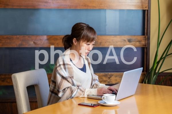 レストランにいる女性の写真