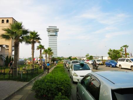 アウトレット 港 茨城 マリンタワー リゾート 道路 海岸 空 車 夏 おおあらい 15 大洗