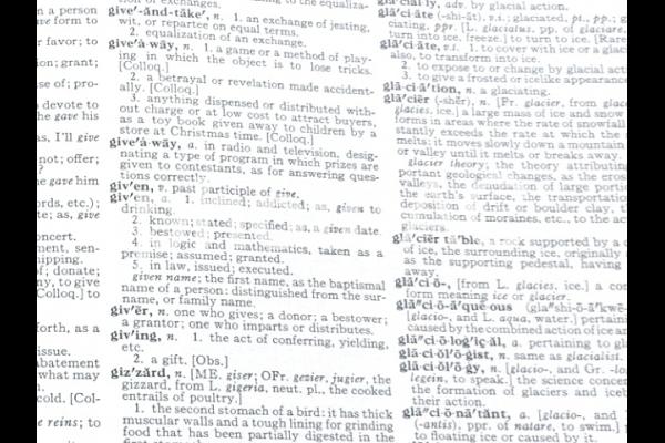 おしゃれな洋書の英語文字背景の写真