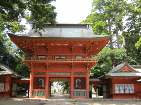 鹿島神宮楼門 楼門 鹿島神宮 神宮 重要文化財 門