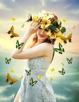 花の妖精の写真